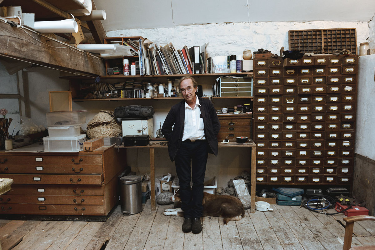 Peter Randall-Page at his studio 2015. Photograph by Anne Purkiss